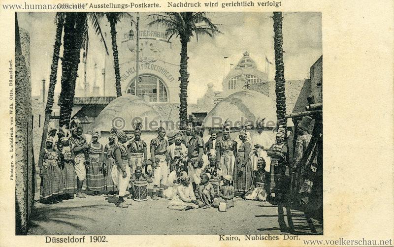 1902 Industrie- & Gewerbeausstellung Düsseldorf - Kairo Nubisches Dorf 1