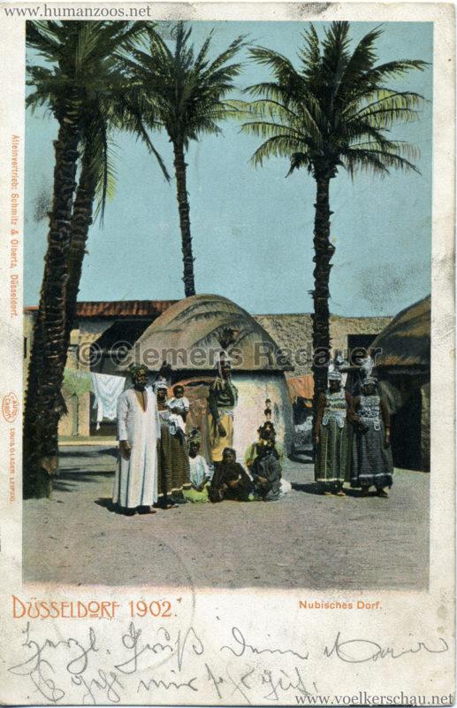 1902 Industrie- & Gewerbeausstellung Düsseldorf - Kairo Nubisches Dorf 2