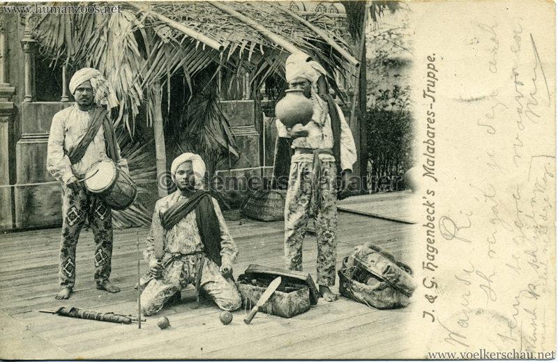 1902 (?) J. & G. Hagenbeck's Malabares-Truppe 1