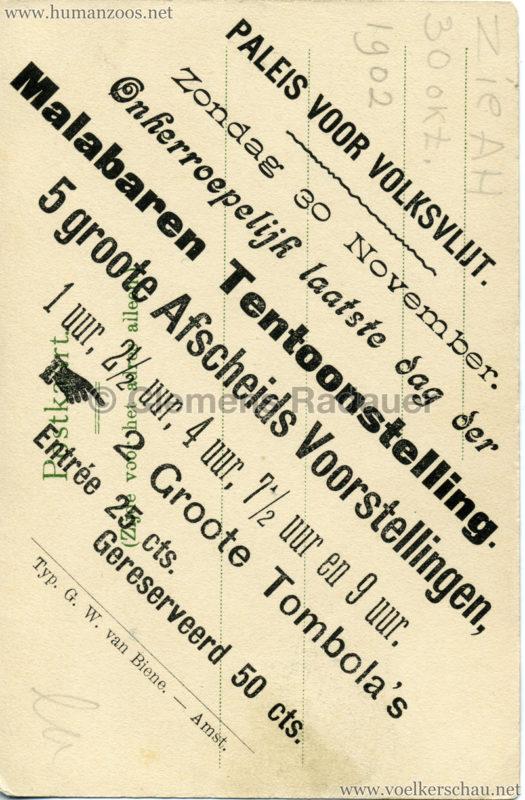 1902 (?) J. & G. Hagenbeck's Malabares-Truppe 3 RS