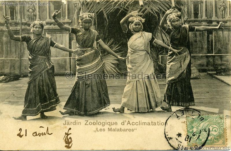 1902 Jardin Zoologique d'Acclimatation - Les Malabares 9