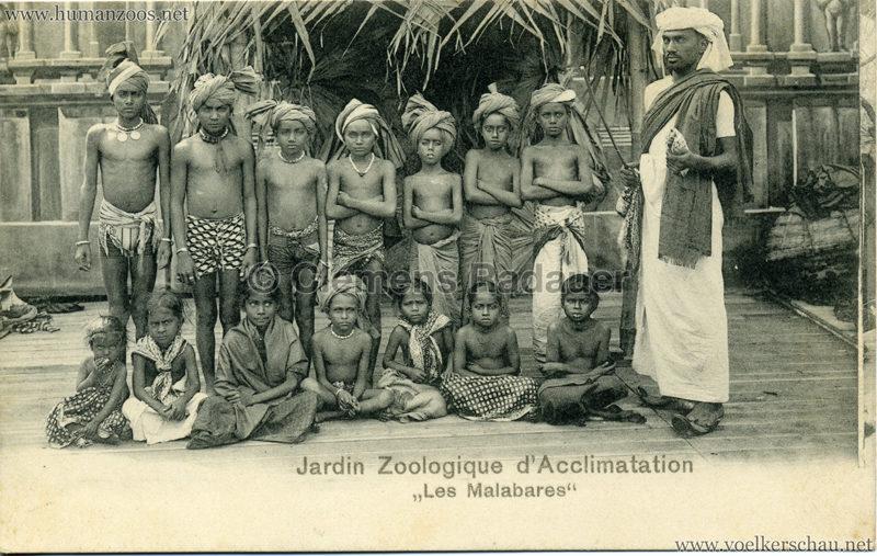 1902 Les Malabares Jardin Zoologique D Acclimatation Human Zoos