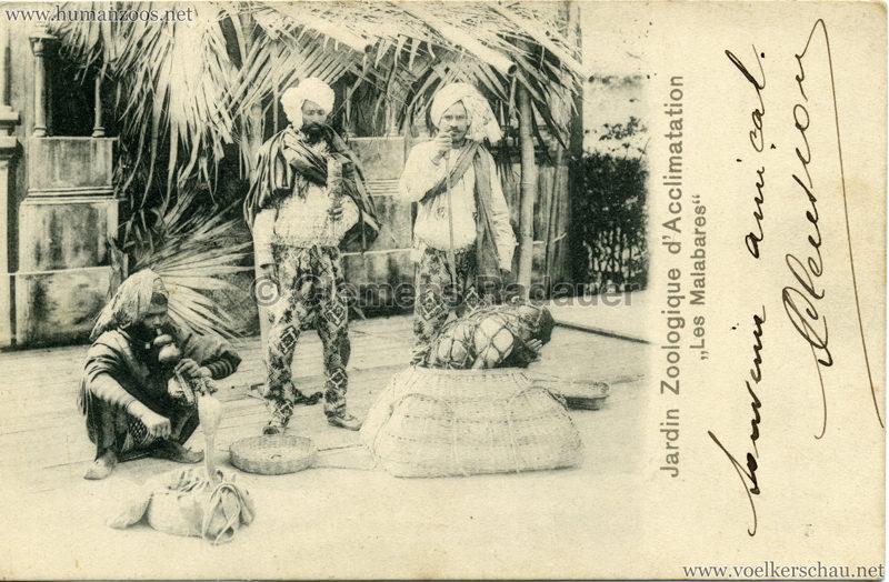 1902 Jardin Zoologique d'Acclimatation - Les Malabares 7