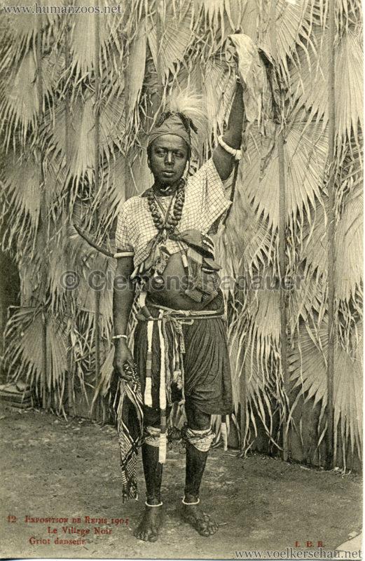 1903 Exposition de Reims - 12. Griot danseur