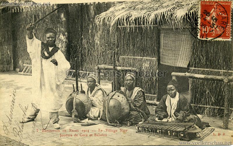 1903 Exposition de Reims - 7. Joueurs de Cora et Balafon