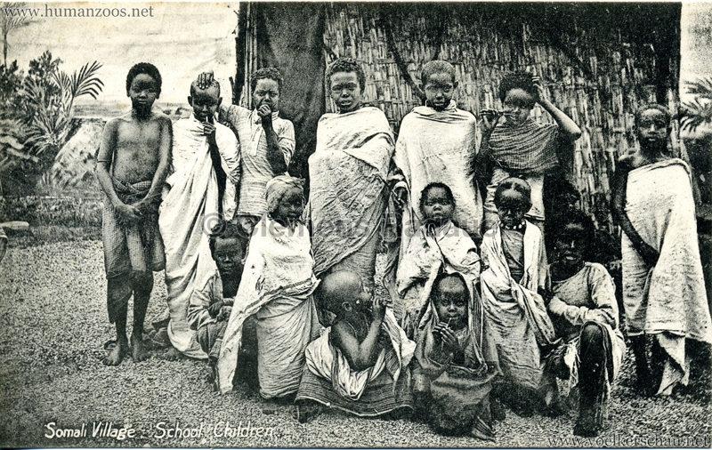 1904 Bradford Exhibition - Somali Village . School Children