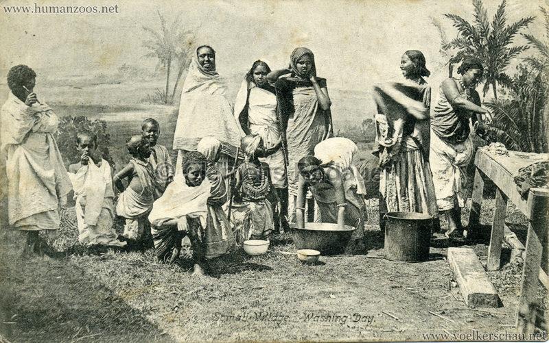 1904 Bradford Exhibition - Somali Village. Washing day 1