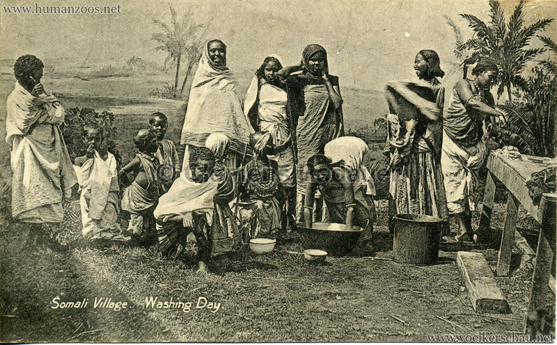 1904 Bradford Exhibition - Somali Village. Washing day 2
