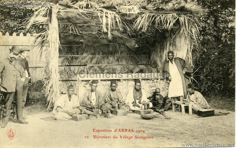 1904 Exposition d'Arras - 10.Bijoutiers du Village Sénégalais