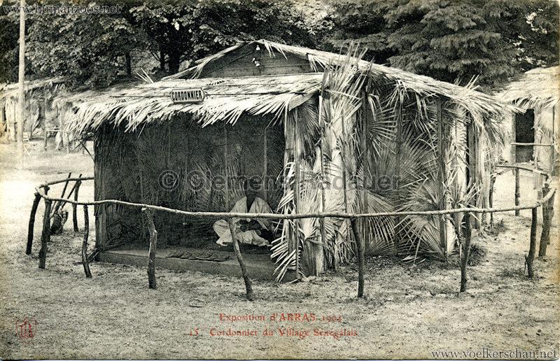 1904 Exposition d'Arras - 15. Cordonnier du Village Sénégalais