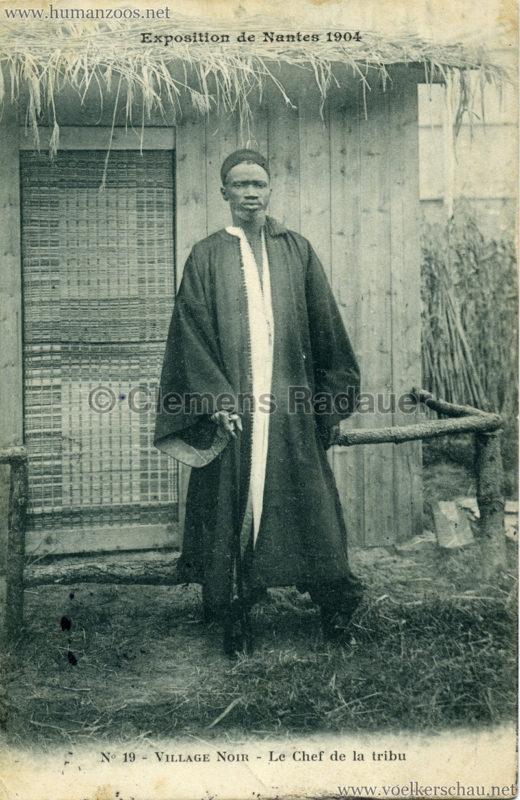 1904 Exposition de Nantes - Le Village Noir - 19. Le Chef de la tribu
