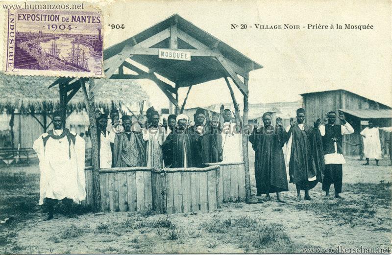 1904 Exposition de Nantes - Le Village Noir - 20. Prière à la Mosquée