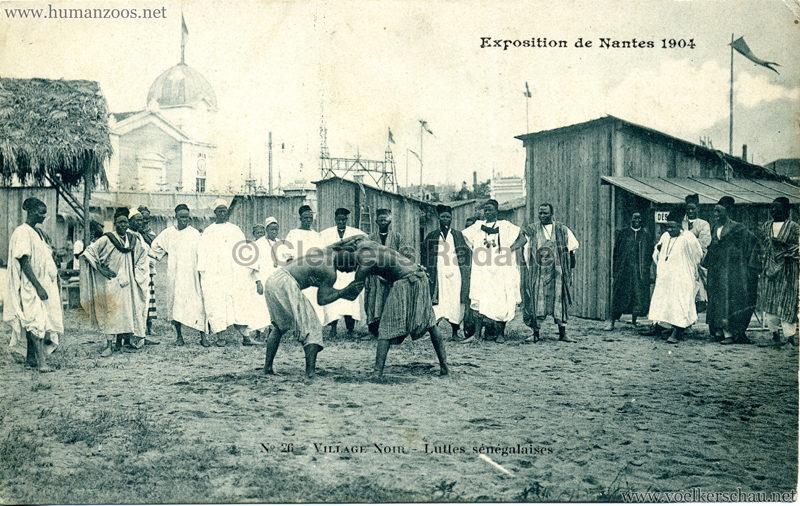 1904 Exposition de Nantes - Le Village Noir - 26. Luttes sénégalaises