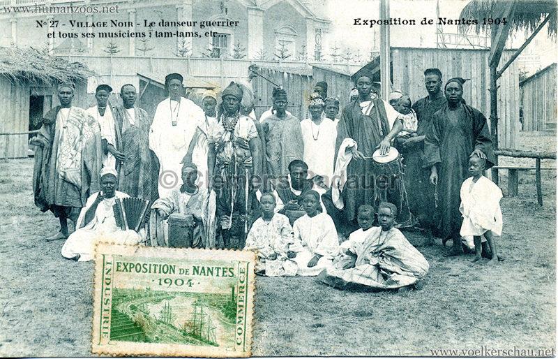 1904 Exposition de Nantes - Le Village Noir - 27. Le danseur guerrier et tous ses musiciens