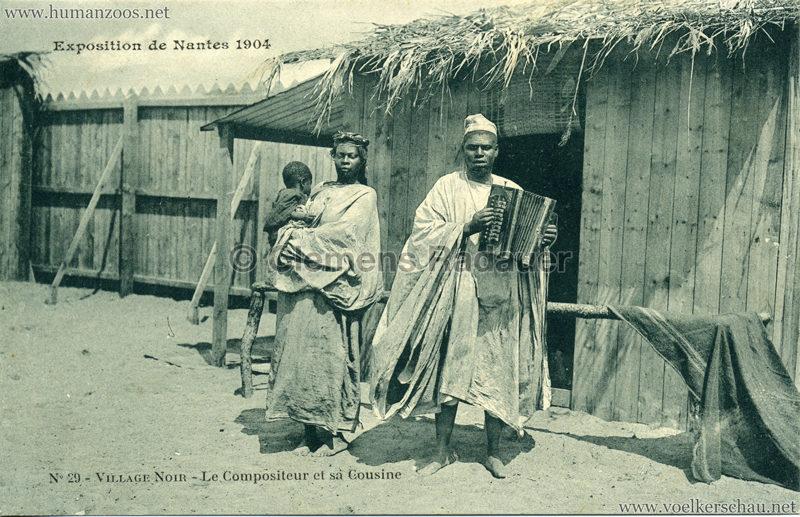 1904 Exposition de Nantes - Le Village Noir - 29. Le Compositeur et sa Cousine