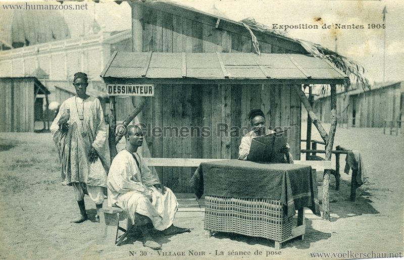 1904 Exposition de Nantes - Le Village Noir - 30. La séance de pose