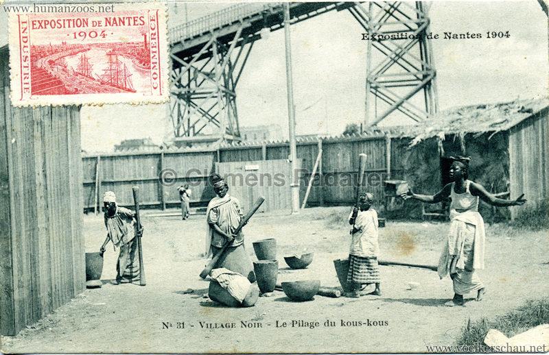 1904 Exposition de Nantes - Le Village Noir - 31. Le Pilage du kous-kous