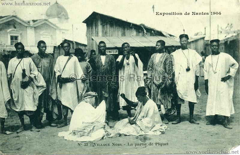 1904 Exposition de Nantes - Le Village Noir - 33. La partie de Piquet