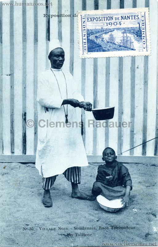 1904 Exposition de Nantes - Le Village Noir - 35. Soudanais. Race Toucouleur un Tailleur