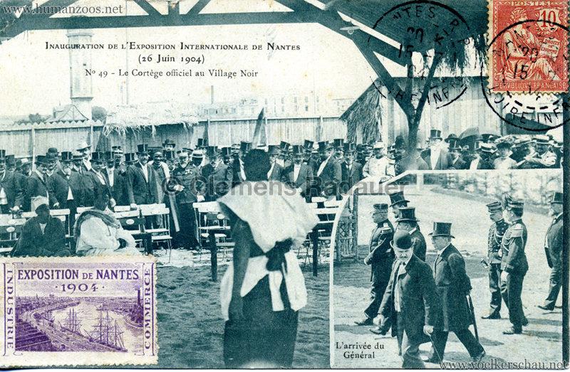 1904 Exposition de Nantes - Le Village Noir - 49. Le Cortège officiel au Village Noir