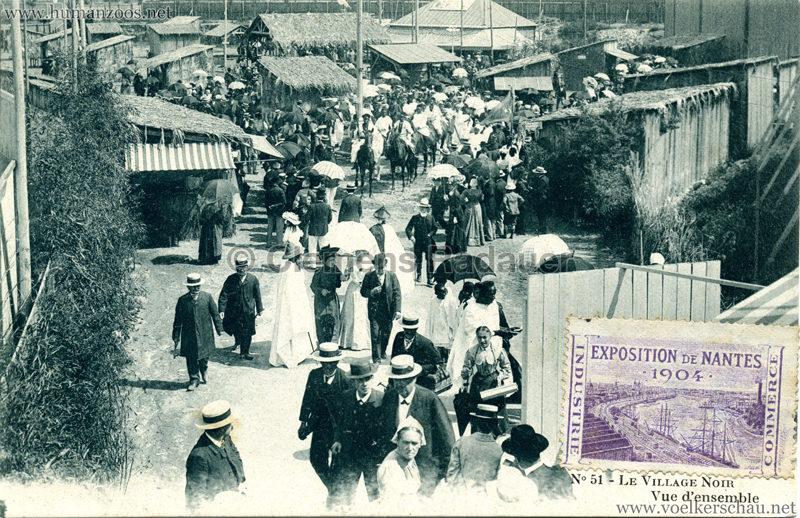 1904 Exposition de Nantes - Le Village Noir - 51. Vue d'ensemble