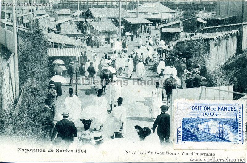 1904 Exposition de Nantes - Le Village Noir - 53. Vue d'ensemble