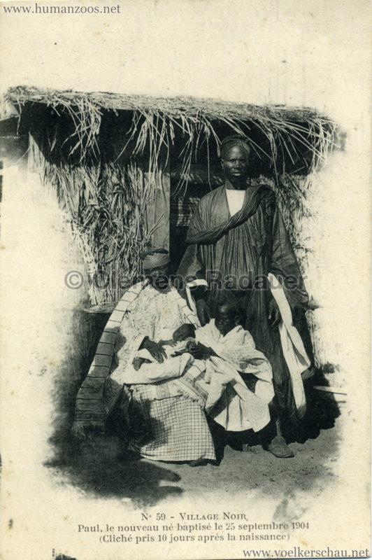 1904 Exposition de Nantes - Le Village Noir - 59. Paul, le nouveau né baptisé le 25 septembre 1904 (Cliché pris 10 jours après la naissance)