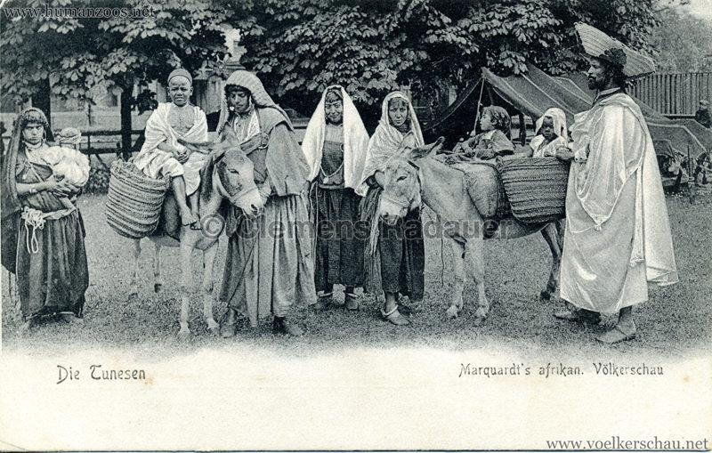 1904 Marquardt's afrik. Völkerschau - Die Tunesen 3