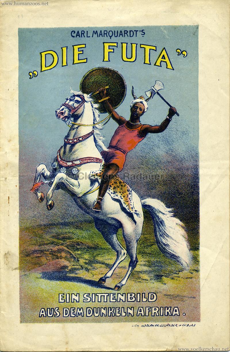 """1905 Carl Marquardt's """"Die Futa"""" ein Sittenbild aus dem dunkeln Afrika"""