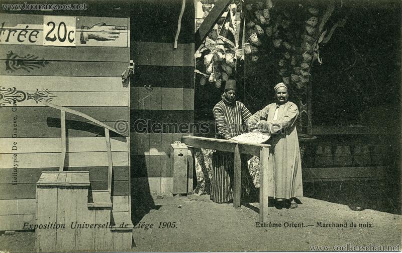 1905 Exposition de Liège - Extrême Orient - Marchant de noix