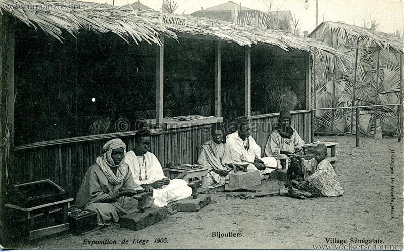1905 Exposition de Liège - Village Sénégalais - Bijoutiers