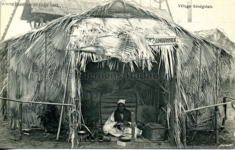 1905 Exposition de Liège - Village Sénégalais - Cordonnier