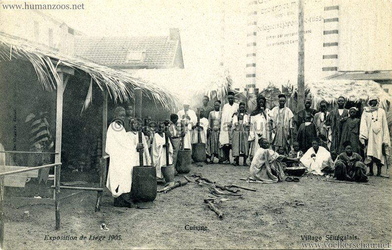 1905 Exposition de Liège - Village Sénégalais - Cuisine
