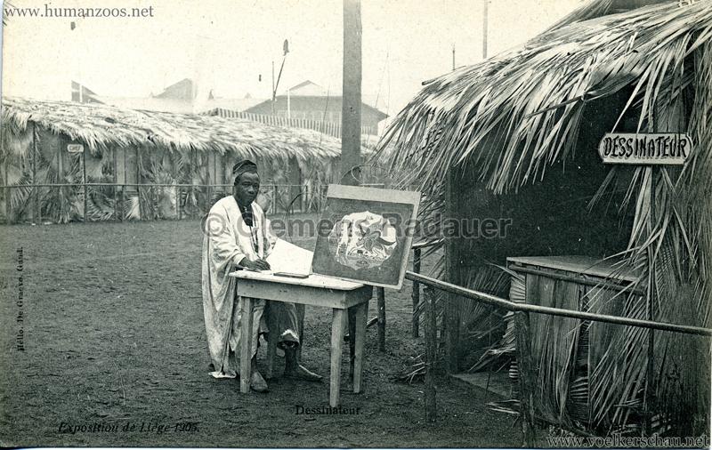 1905 Exposition de Liège - Village Sénégalais - Dessinateur