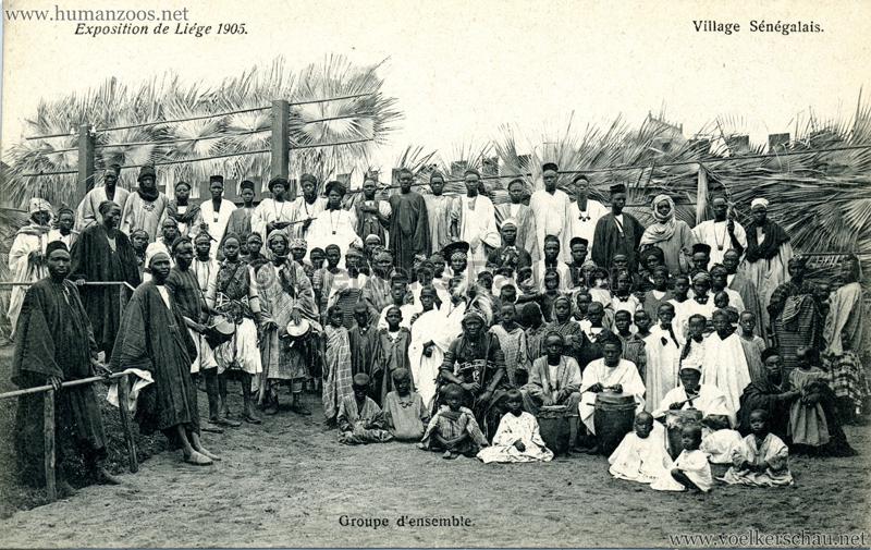 1905 Exposition de Liège - Village Sénégalais - Groupe d'ensemble