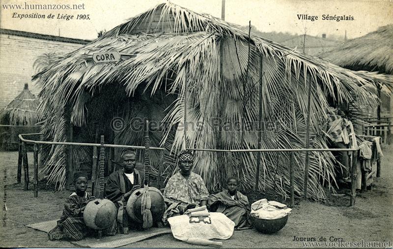 1905 Exposition de Liège - Village Sénégalais - Joueurs de Cora