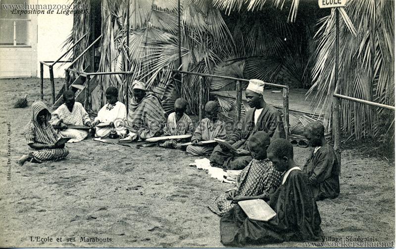 1905 Exposition de Liège - Village Sénégalais - L'École et ses Marabouts