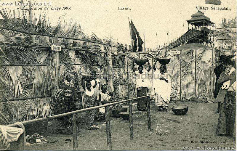 1905 Exposition de Liège - Village Sénégalais - Lavoir
