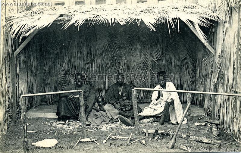 1905 Exposition de Liège - Village Sénégalais - Piroguiers