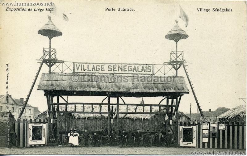 1905 Exposition de Liège - Village Sénégalais - Porte d'Entrée