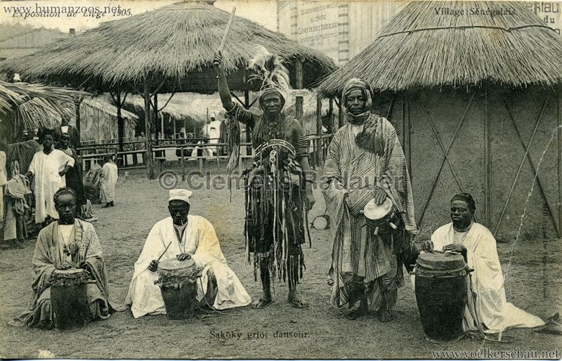 1905 Exposition de Liège - Village Sénégalais - Sakoky griot danseur
