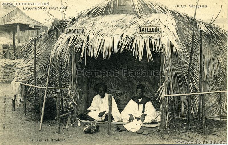 1905 Exposition de Liège - Village Sénégalais - Tailleur et Brodeur