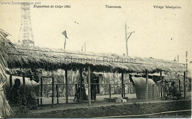 1905 Exposition de Liège - Village Sénégalais - Tisserands