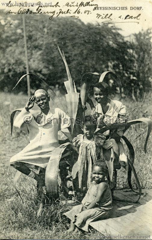 1905 - Jubiläumsausstellung Oldenburg - Abyssinisches Dorf 1