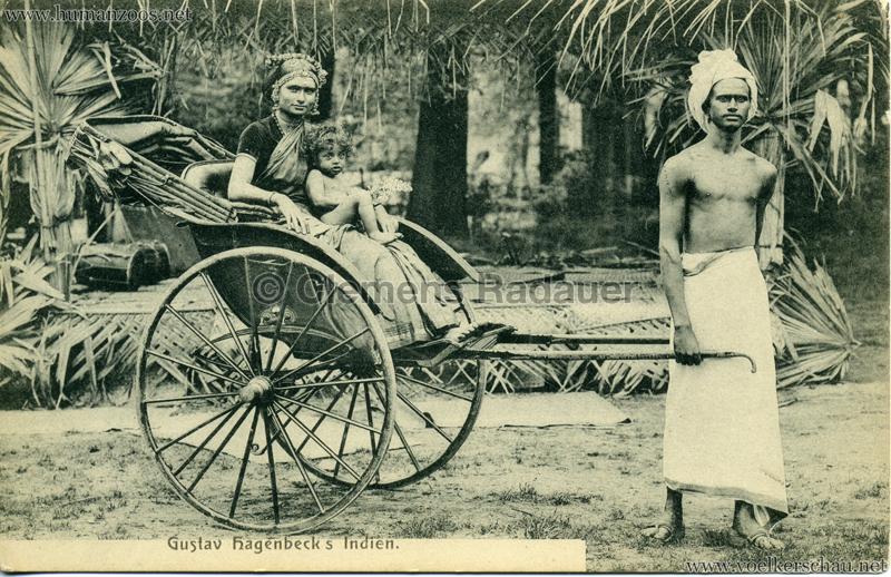 1905/1906 Gustav Hagenbecks Indien - Mann & Ricksha