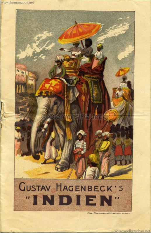 1905/1906 Gustav Hagenbecks Indien - Programm