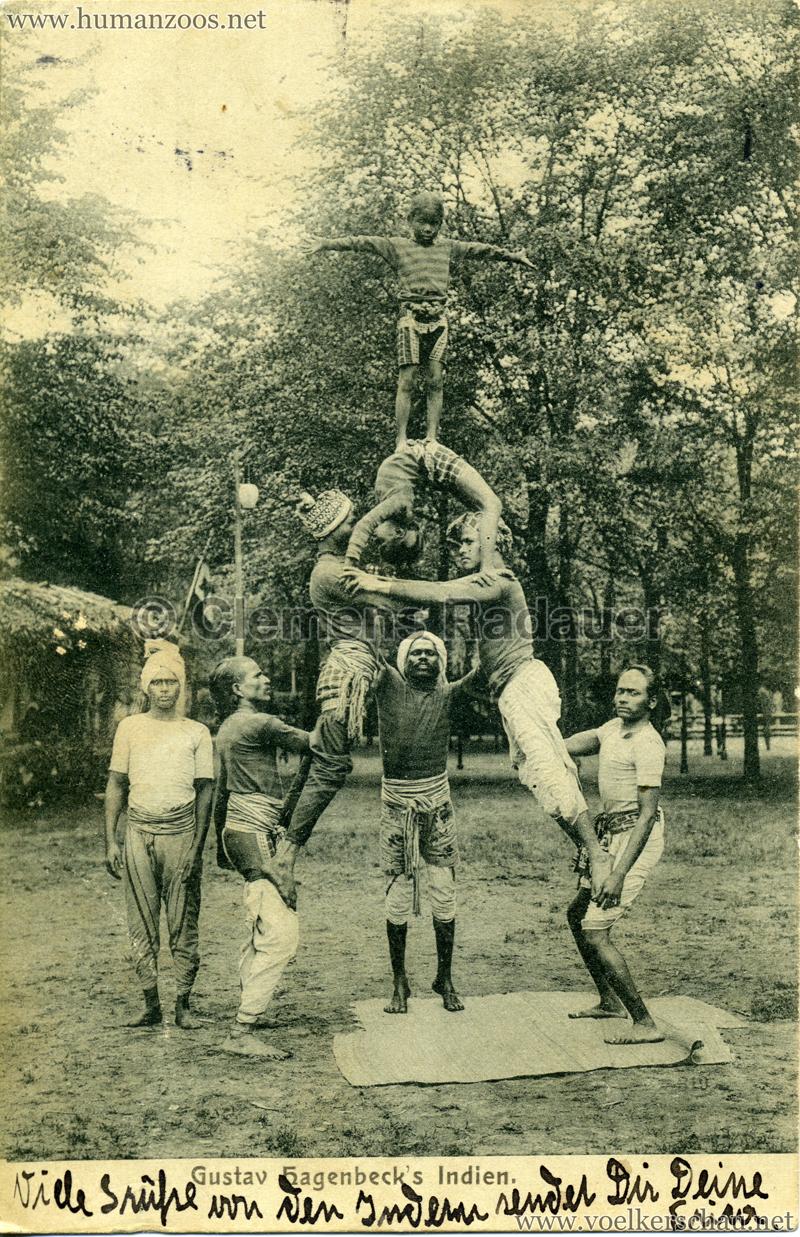 1905/1906 Gustav Hagenbecks Indien - Pyramide