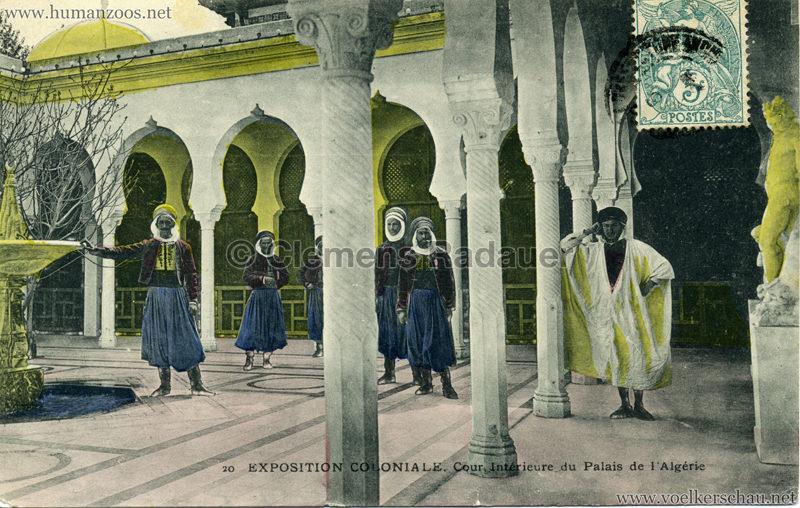 1906 Exposition Coloniale Marseille - 20. Cour Intérieure du Palais de l'Algerie