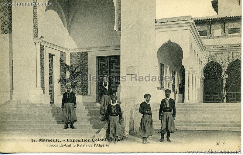 1906 Exposition Coloniale Marseille - 33. Turcos devant le Palais de l'Algerie