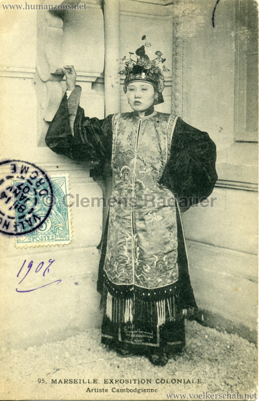 1906 Exposition Coloniale Marseille - 95. Artiste Cambodgienne
